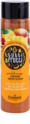 Farmona Tutti Frutti Peach & Mango exfoliant cremos usor de spalat