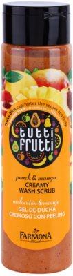 Farmona Tutti Frutti Peach & Mango kremowy peeling pod prysznic