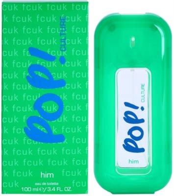 Fcuk Pop! Culture Eau de Toilette pentru barbati