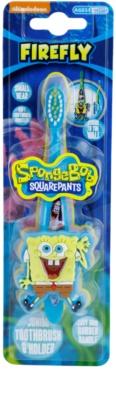 FireFly SpongeBob cepillo de dientes para niños con soporte suave