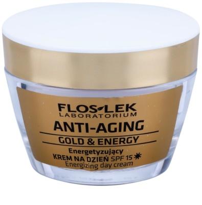 FlosLek Laboratorium Anti-Aging Gold & Energy crema de día energizante SPF 15