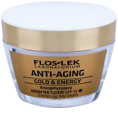 FlosLek Laboratorium Anti-Aging Gold & Energy енергизиращ дневен крем SPF 15