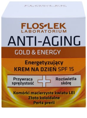 FlosLek Laboratorium Anti-Aging Gold & Energy енергизиращ дневен крем SPF 15 2