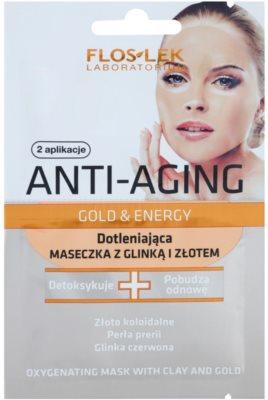FlosLek Laboratorium Anti-Aging Gold & Energy oksigenacijska maska z zlatom in glino