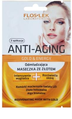 FlosLek Laboratorium Anti-Aging Gold & Energy омолоджуюча маска з екстрактом золота