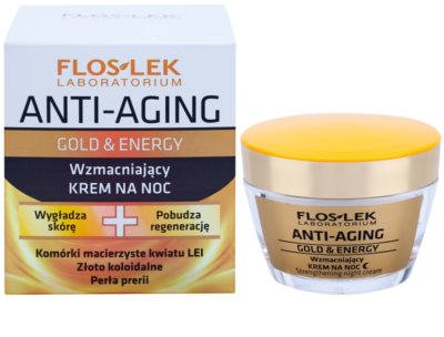 FlosLek Laboratorium Anti-Aging Gold & Energy wzmacniający krem na noc 1