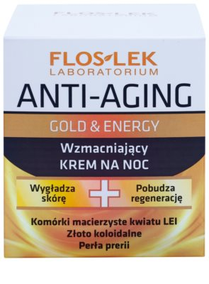 FlosLek Laboratorium Anti-Aging Gold & Energy wzmacniający krem na noc 2