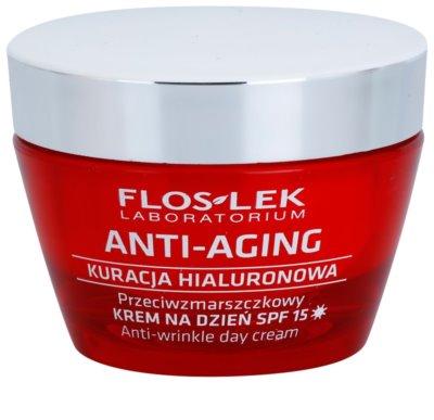 FlosLek Laboratorium Anti-Aging Hyaluronic Therapy creme hidratante diário contra o anti-envelhecimento da pele SPF 15