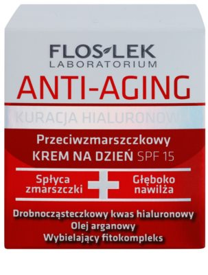 FlosLek Laboratorium Anti-Aging Hyaluronic Therapy creme hidratante diário contra o anti-envelhecimento da pele SPF 15 2