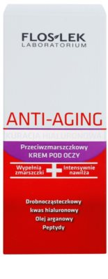 FlosLek Laboratorium Anti-Aging Hyaluronic Therapy регенериращ очен крем с изглаждащ ефект 2