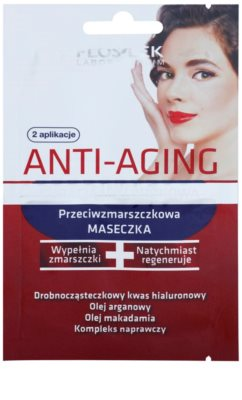FlosLek Laboratorium Anti-Aging Hyaluronic Therapy vlažilna maska proti gubam