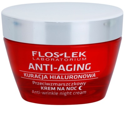 FlosLek Laboratorium Anti-Aging Hyaluronic Therapy crema de noapte hidratanta cu efect antirid
