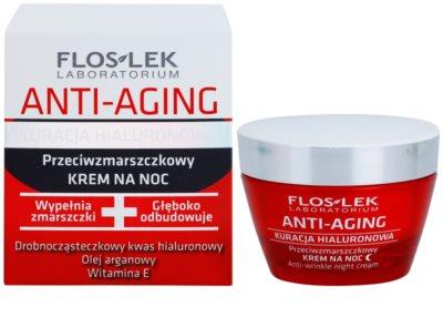 FlosLek Laboratorium Anti-Aging Hyaluronic Therapy нощен хидратиращ крем  с анти-бръчков ефект 1