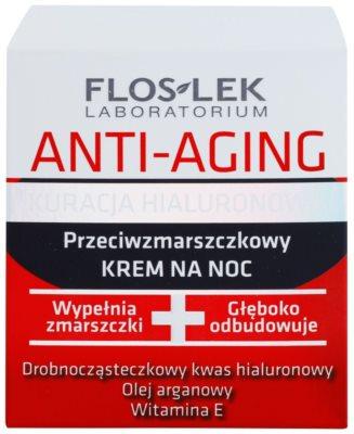 FlosLek Laboratorium Anti-Aging Hyaluronic Therapy нощен хидратиращ крем  с анти-бръчков ефект 2
