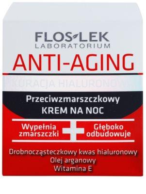 FlosLek Laboratorium Anti-Aging Hyaluronic Therapy crema de noapte hidratanta cu efect antirid 2