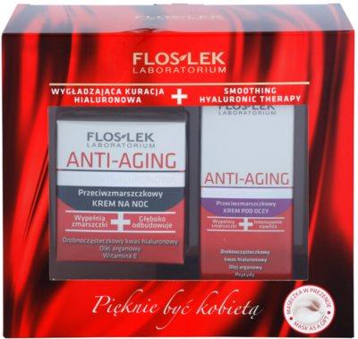 FlosLek Laboratorium Anti-Aging Hyaluronic Therapy kozmetični set I.