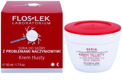 FlosLek Laboratorium Dilated Capillaries подхранващ крем за чувствителна и зачервена кожа 1