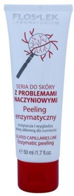 FlosLek Laboratorium Dilated Capillaries encimski piling za občutljivo in pordelo kožo