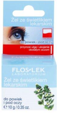 FlosLek Laboratorium Eye Care Gel für den Augenbereich mit Gemeinem Augentrost 2