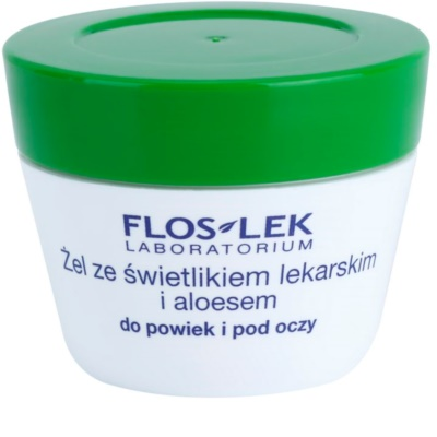 FlosLek Laboratorium Eye Care gel para contorno de ojos con luteína y aloe vera