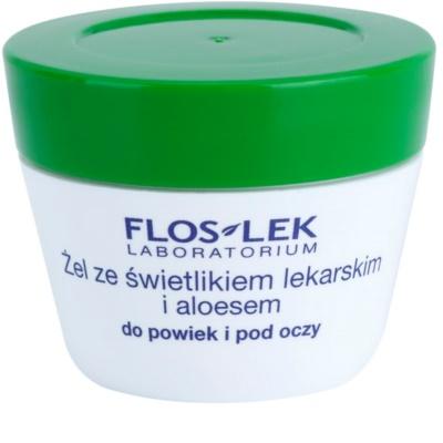 FlosLek Laboratorium Eye Care gel para o contorno dos olhos com luteína e alóe vera