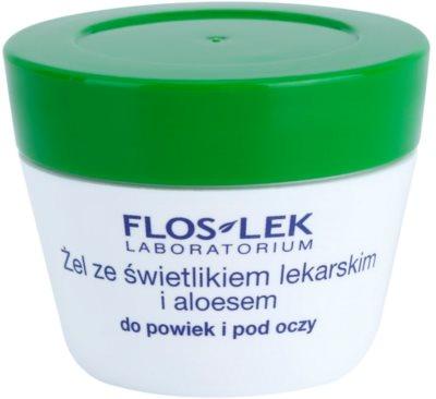 FlosLek Laboratorium Eye Care гель для шкіри навколо очей з очанкою лікарською та алое вера
