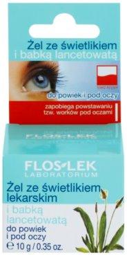 FlosLek Laboratorium Eye Care gel para contorno de ojos con extracto de llantén y eufrasia 2