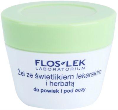 FlosLek Laboratorium Eye Care gel para o contorno dos olhos com chá verde