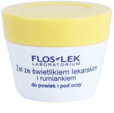FlosLek Laboratorium Eye Care gel para o contorno dos olhos com eufrásia e camomila