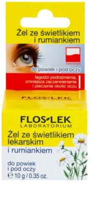 FlosLek Laboratorium Eye Care gel para o contorno dos olhos com eufrásia e camomila 2