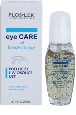 FlosLek Laboratorium Eye Care bioaktives feuchtigkeitsspendendes Gel für Augen und Lippen 2