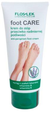 FlosLek Laboratorium Foot Care creme de pés contra suor excessivo