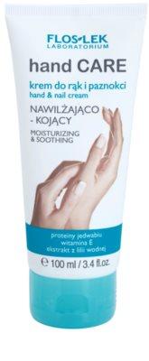 FlosLek Laboratorium Hand Care Moisturizing&Soothing nyugtató és hidratáló krém kézre és körmökre