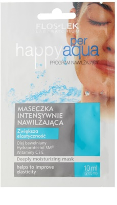 FlosLek Laboratorium Happy per Aqua інтенсивна зволожуюча маска