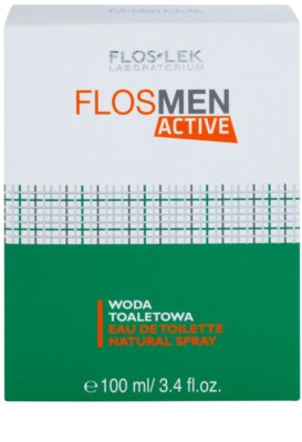 FlosLek Laboratorium FlosMen Active туалетна вода для чоловіків 1