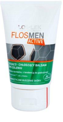 FlosLek Laboratorium FlosMen Active nyugtató borotválkozás utáni balzsam hűsítő hatással