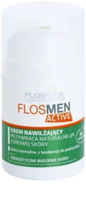 FlosLek Laboratorium FlosMen Active crema hidratanta pentru piele normala predispusa la iritatii
