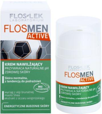 FlosLek Laboratorium FlosMen Active crema hidratanta pentru piele normala predispusa la iritatii 1