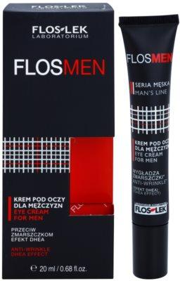 FlosLek Laboratorium FlosMen crema para contorno de ojos antiarrugas, antibolsas y antiojeras 1