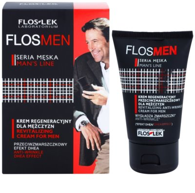 FlosLek Laboratorium FlosMen ревитализиращ крем за лице с анти-бръчков ефект 1