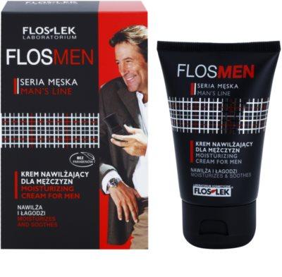 FlosLek Laboratorium FlosMen hidratáló és nyugtató krém a száraz és irritált bőrre 1