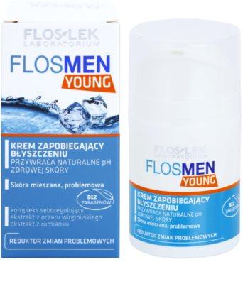 FlosLek Laboratorium FlosMen Young crema pentru piele lucioasa cu pori dilatati 1