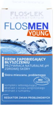 FlosLek Laboratorium FlosMen Young crema pentru piele lucioasa cu pori dilatati 2