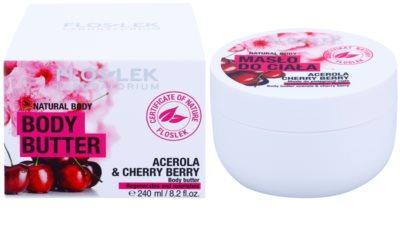 FlosLek Laboratorium Natural Body Acerola & Cherry Berry tělové máslo s regeneračním účinkem 2