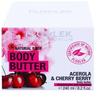 FlosLek Laboratorium Natural Body Acerola & Cherry Berry tělové máslo s regeneračním účinkem 3
