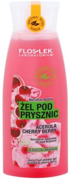 FlosLek Laboratorium Natural Body Acerola & Cherry Berry gel de duche refrescante