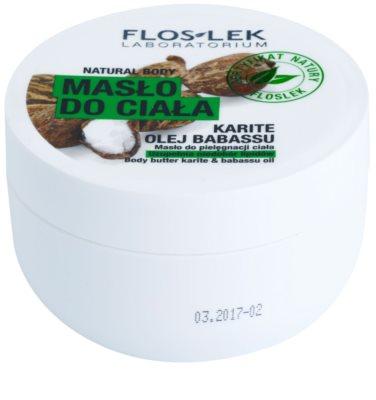 FlosLek Laboratorium Natural Body Karite & Babassu Oil manteiga corporal  com efeito reafirmante