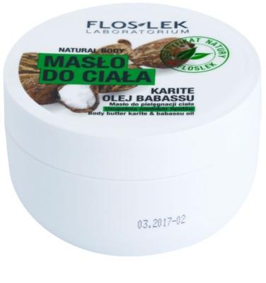 FlosLek Laboratorium Natural Body Karite & Babassu Oil масло для тіла зі зміцнюючим ефектом