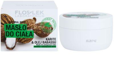 FlosLek Laboratorium Natural Body Karite & Babassu Oil tělové máslo se zpevňujícím účinkem 2