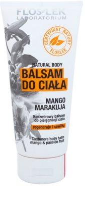 FlosLek Laboratorium Natural Body Mango & Passion Fruit hydratačný telový balzam s regeneračným účinkom